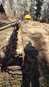 Graben zur Burg vom Birkenhaus