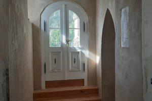 Sanierter Fußbodenaufbau - Zugang zur Terrasse