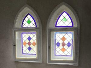 Sanierte Fenster im Turmzimmer 2. OG